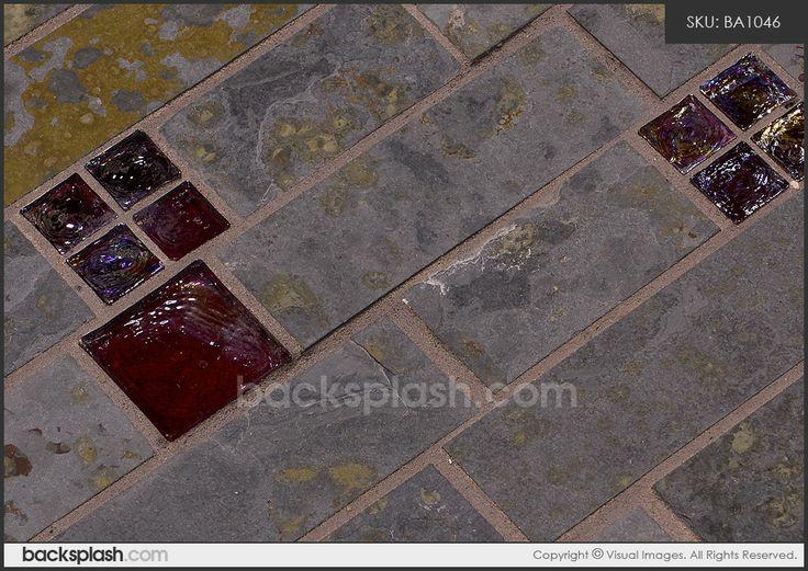 slate tile brazilian rusty slate subway glass backsplash tile