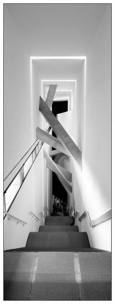 The Jewish Museum Berlin. Daniel Libeskind.  I like this design for the stair well