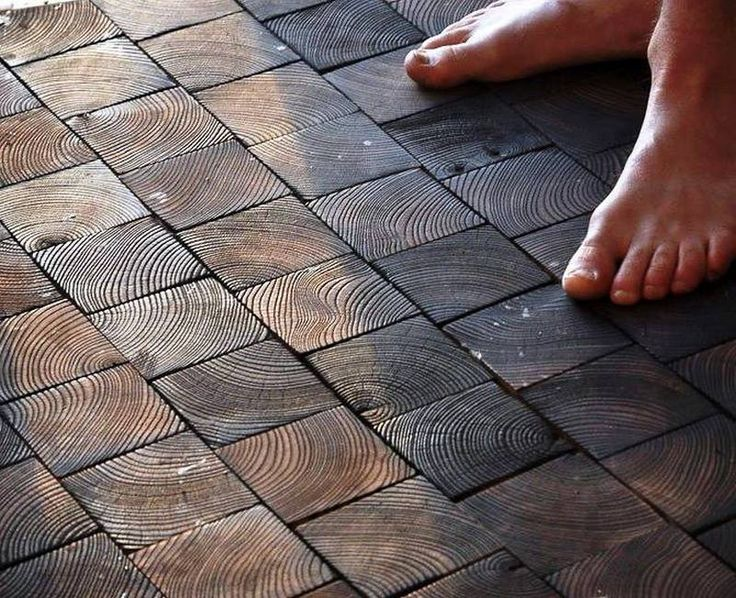 Here's an idea on how to use timber cut-offs that are otherwise too short to build with. Does it make a beautiful floor? For more inspiration view the full album on our site at http://theownerbuildernetwork.co/ideas-for-your-rooms/home-flooring-gallery/flooring-ideas/