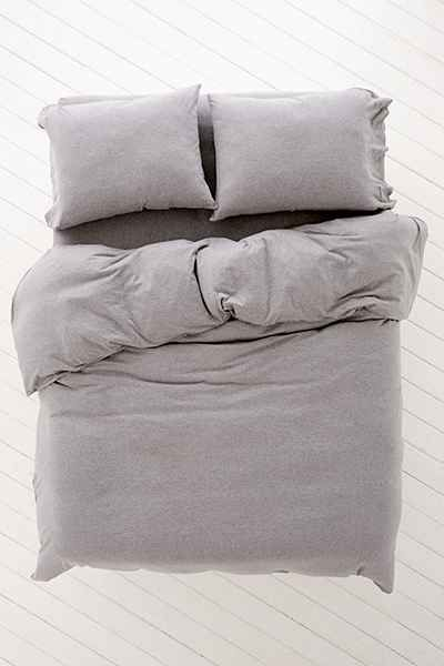 Heathered Jersey Duvet Cover - Urban Outfitters  This duvet with the same material pillow covers or fitted sheet in rose = perfect bed goals