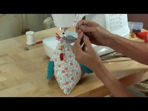 Funky chicken! A quirky little character for you to sew! By Debbie Shore - YouTube