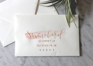 Watercolor Swash with Gold Calligraphy | A Fabulous Fete