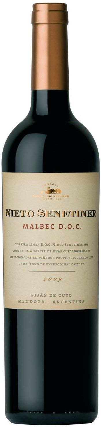 """Nieto Senetiner Malbec D.O.C."" 2012 - Bodega Nieto Senetiner, Luján de Cuyo, Mendoza-----------Terroir: Vistalba--------------------- Crianza: 12 meses en barricas de roble francés"