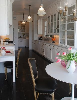 Galley Kitchen Probably Wont Have Room But Love The Idea Of A Desk In The Kitchen Keeps The