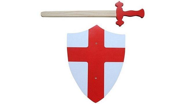 Simply for Kids Houten Zwaard en Schild Rood  Leuke ridderset van hout. Zwaard en wit schild met rood kruis. .  EUR 21.95  Meer informatie