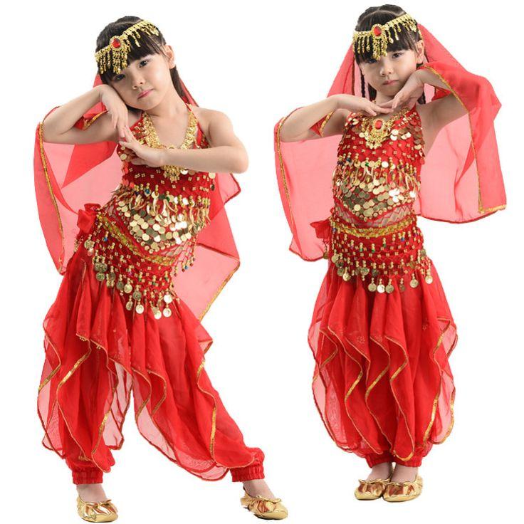 Lentejuelas trajes de danza del vientre traje de danza del vientre danza del vientre vestido indio para los niños girls 3 colores en Danza del Vientre de Novedad y de uso especial en AliExpress.com | Alibaba Group