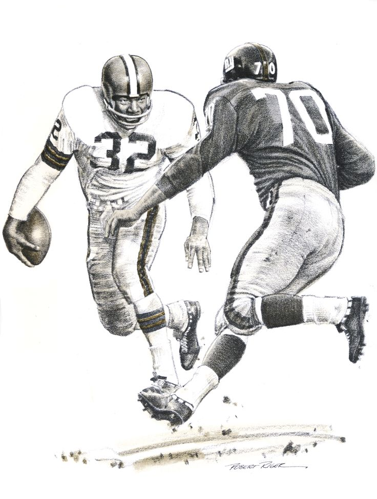 One-On-One, Jim Brown and Sam Huff, drawing for Best Plays
