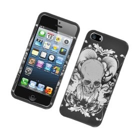 Skull With Angel 2D Glossy Faceplate Hard Plastic Protector Snap-On Cover Case For Apple iPhone 5 $4.99 while supplies last!