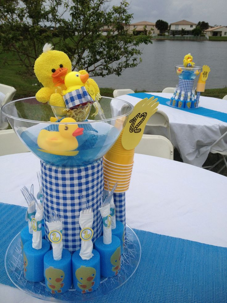 Duck Themed Baby Shower Centerpieces.