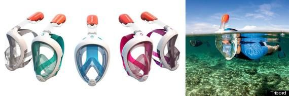 The Easybreath Snorkeling Mask I want one!  They need to hurry up and start shipping to the US before my next Caribbean vacation!
