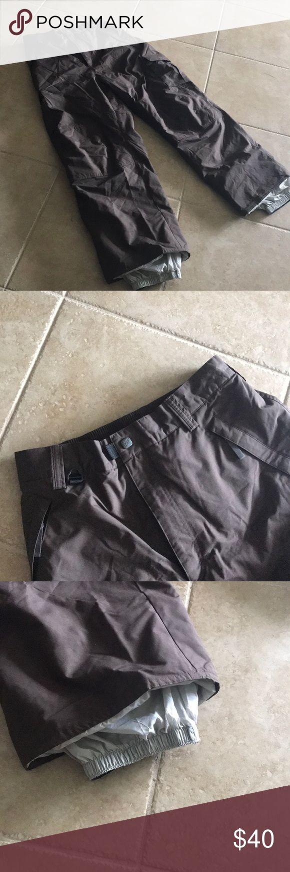 Men's ski pants Turbine chocolate brown ski pants with four pockets and gathered ankles Pants