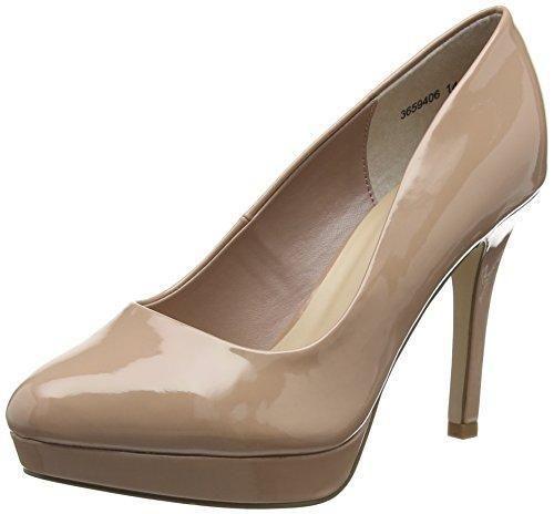 Oferta: 28.17€. Comprar Ofertas de New LookWide Foot Splendor - Zapatos de Tacón mujer , color Beige, talla 37 barato. ¡Mira las ofertas!