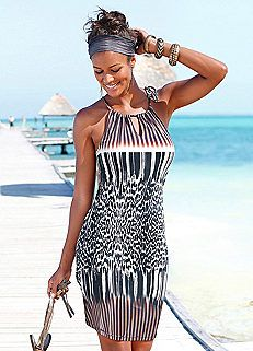 Printed Beach Dress by LASCANA