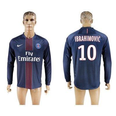 Paris Saint Germain PSG 16-17 Zlatan Ibrahimovic 10 Hjemmebanetrøje Langærmet.  http://www.fodboldsports.com/paris-saint-germain-psg-16-17-zlatan-ibrahimovic-10-hjemmebanetroje-langermet.  #fodboldtrøjer