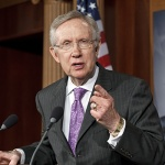Did Senate Majority Leader Harry Reid (D., Nev.) violate the Senate's ethics rules governing campaign activity? Reid's Senate office issued a press release on the Senator's official website titl