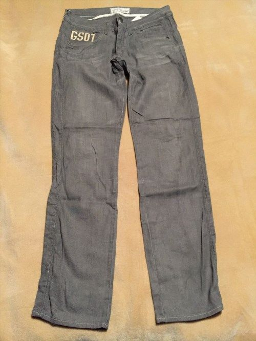 "23.08$  Buy here - http://vikto.justgood.pw/vig/item.php?t=ag0fjgk45879 - Womens G Star Raw Saville Straight Grey Jeans Size 33"" Waist, 34"" Leg Good Cond"
