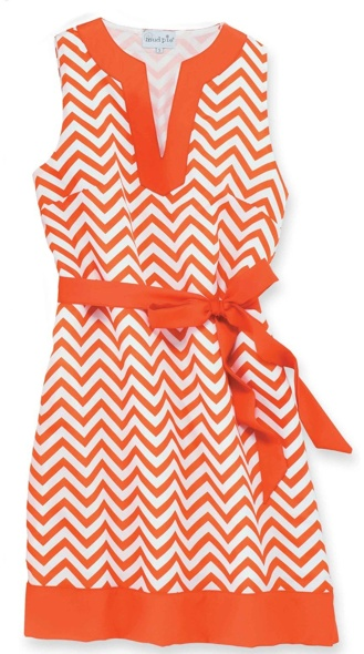 Orange & White Chevron Game Day Dress.  University of Tennessee Volunteers.  Vols.  Clemson Tigers.  Auburn Tigers.  War Eagles.