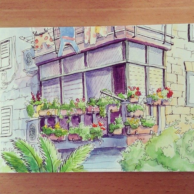 Watercolor Sketchbook gardener 80 lvl by AlexGreenArt