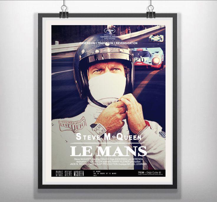 Le Mans (The 24 Hours of Le Mans) 1971 Lee H. Katzin  Steve McQueen Siegfried Rauch Elga Andersen Luc Merenda  #LeMans #The24HoursofLeMans #LeeHKatzin #SteveMcQueen #SiegfriedRauch #ElgaAndersen #LucMerenda #Porsche917 #Porsche #Ferrari512S #Ferrari #MoviePoster