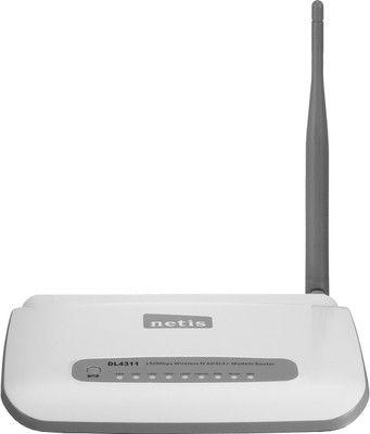 Features of Netis DL4311 N150 Wireless Modem Router: Wireless N Speed Upto 150 Mbps, 4 LAN Port, 1 External Antenna, 1 WAN Port, Frequency: 2.4 - 2.4835 GHz