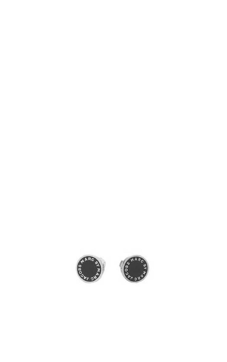 Örhänge Enamel Logo Disc Studs BLACK/SILVER - Marc by Marc Jacobs - Designers - Raglady
