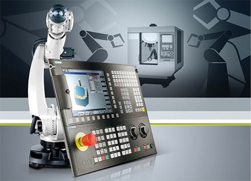 This controller makes it easier to connect different types of robots designed by different manufacturers to CNC machine. The Sinumerik 828D family using the Sinumerik Integrate Run MyRobot/EasyConnect interface performs the handling tasks. Users can set up automated cells even with different types of CNCs using the same standard interface. The Sinumerik interface is based