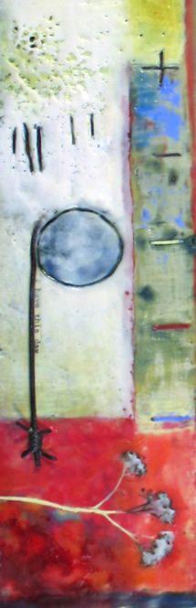 Encaustic Collage, Andrea Bird, Alton Mill, Ontario, Canada