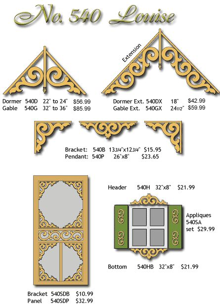gingerbread trim for houses | Dronette Millworks, Victorian Millwork & Gingerbread House Trim