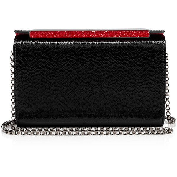 Christian Louboutin Vanité Minaudière (€1.225) ❤ liked on Polyvore featuring bags, handbags, clutches, black, christian louboutin handbags, chain strap handbag, chain strap purse, christian louboutin purse and chain handle handbags