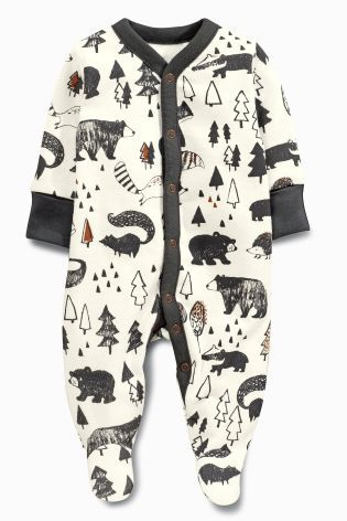 Buy Grey Alpine Fox Sleepsuits Two Pack (0mths-2yrs) from the Next UK online shop