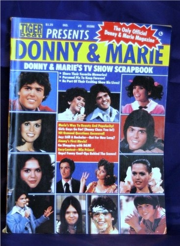 Tiger Beat Presents Donny & Marie TV Show Scrapbook Magazine 1977 #3