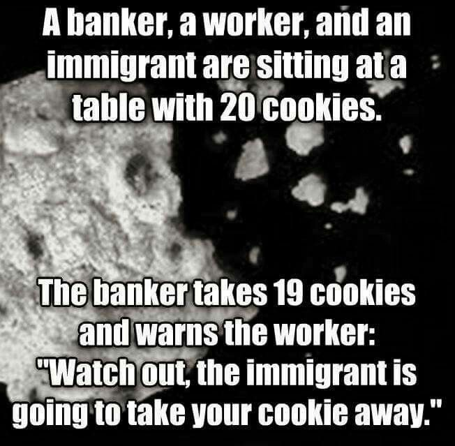 A metaphorical example of the manipulative behaviour of the unethical the greedy