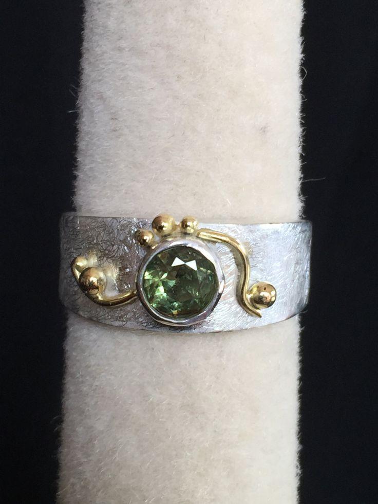 Sapphire bezel set ring by Belenijewellery on Etsy