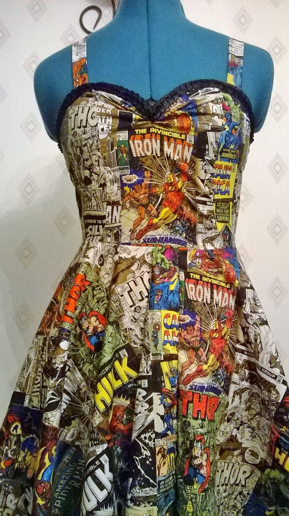 Straight Marvel Comic Book Dress by FashionablyGeeky247 on Etsy, $75.00