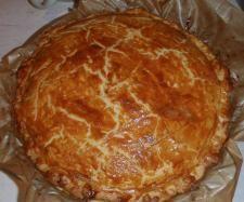 Recette Tourte épinard jambon par christelle 38 - recette de la catégorie Tartes et tourtes salées, pizzas