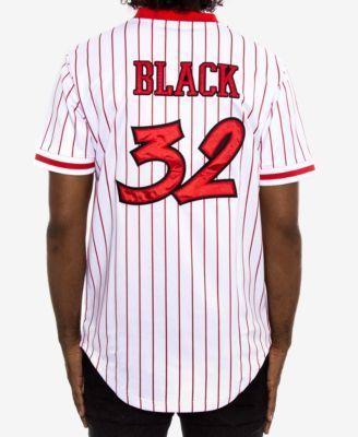 42d787b41 Black Pyramid Men s Striped Baseball Jersey - Red 3XL