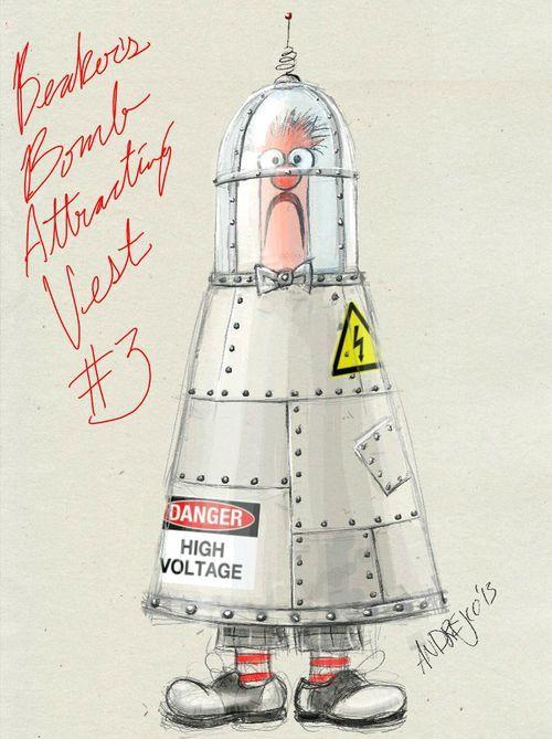 Beaker bomb vest