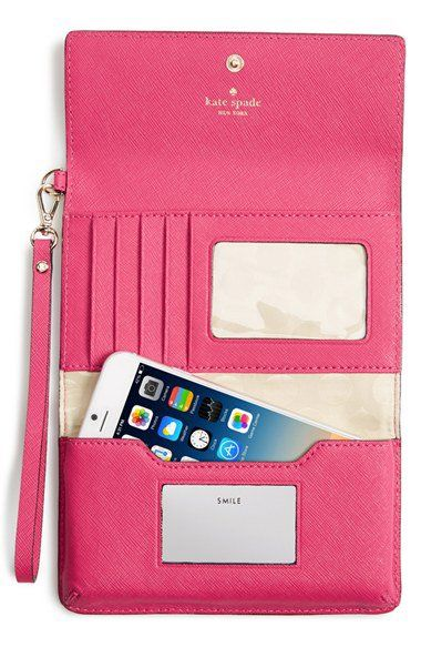 Kate Spade iPhone 6 leather clutch