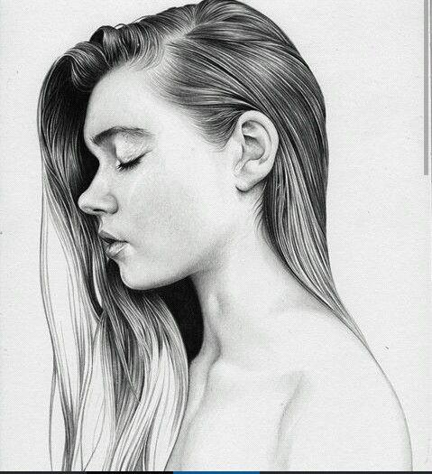 Рисунок. Портрет. Девушка