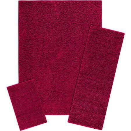 Mainstays Manchester 3-Piece Shag Area Rug Set Available In Multiple Colors - Walmart.com