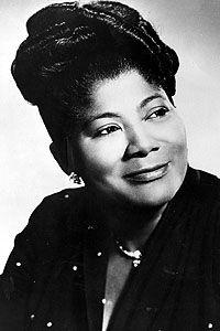 Mahalia Jackson (1911 - 1972) Considered by many to be the greatest gospel singer ever