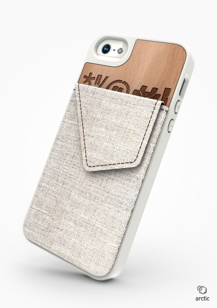 iPhone 5 cover - Arctic Walletstand