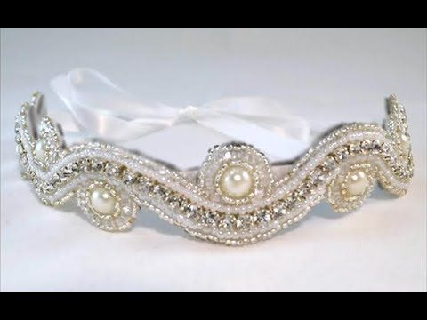 How to Make a Bead Embroidered Headband ✄ http://www.youtube.com/watch?v=s3RoGi3GPQQ