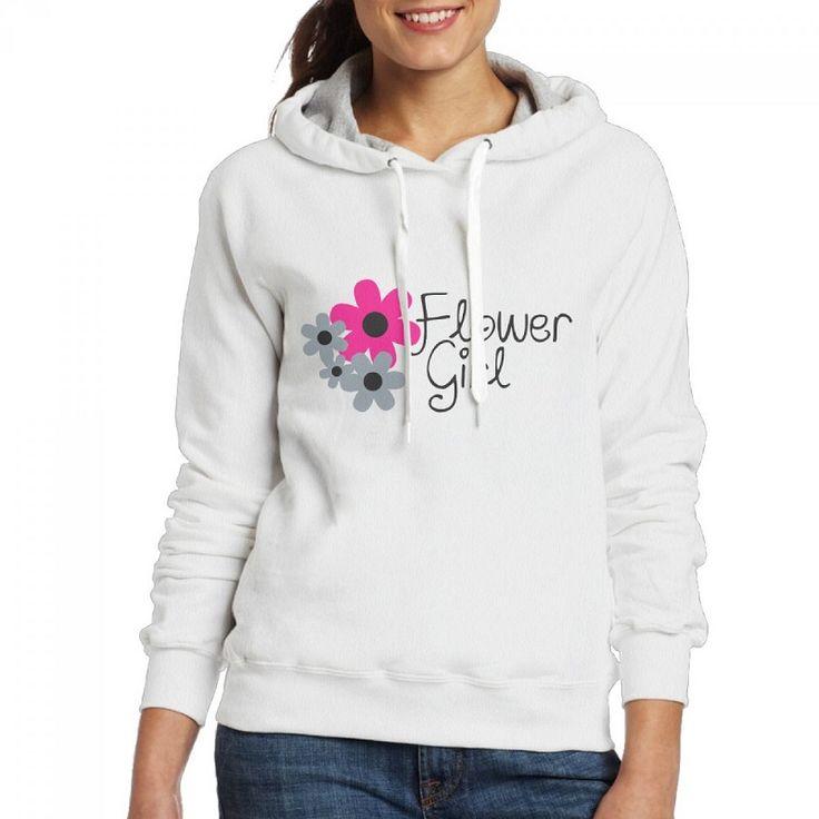 PEGGYNCO Women Sweatshirt Flower Girls Print Hoodies Casual Loose Long Sleeve Hoodies white grey Lady Autumn Winter Clothes #Affiliate