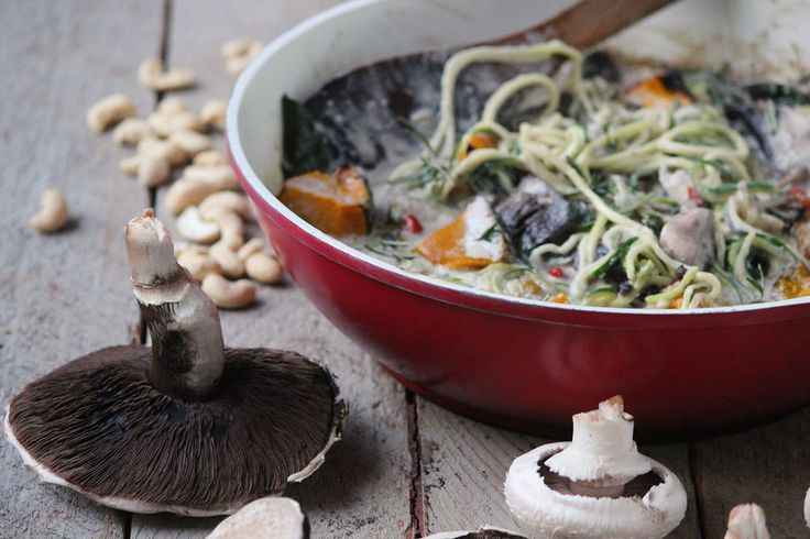 Creamy mushroom & pumpkin pasta...made entirely out of wholefoods! - The Healthy Patch