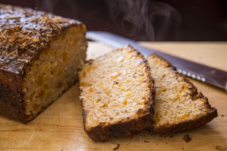 """""""Apricot & Coconut Protein Bread Loaf"""" A delicious tropical version of Protein Bread. A delicious snack or healthy alternative to banana bread. Enjoy it while it's hot!"""
