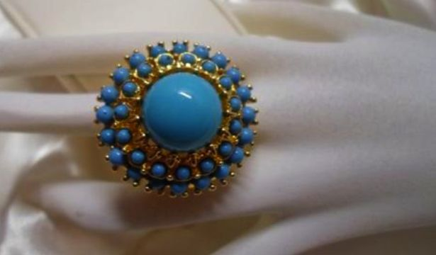 ENTER FOR A CHANCE TO WIN KENNETH JAY LANE GOLD PLATED ADJUSTABLE TURQUOISE RING WORTH $150
