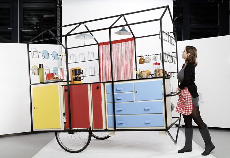 Mobile kitchen, designed by students of the geneva university of art   and design, - great for cooking programming