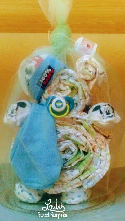 Diaper Bear Diaper cake #Loulis_Sweet_Surprise