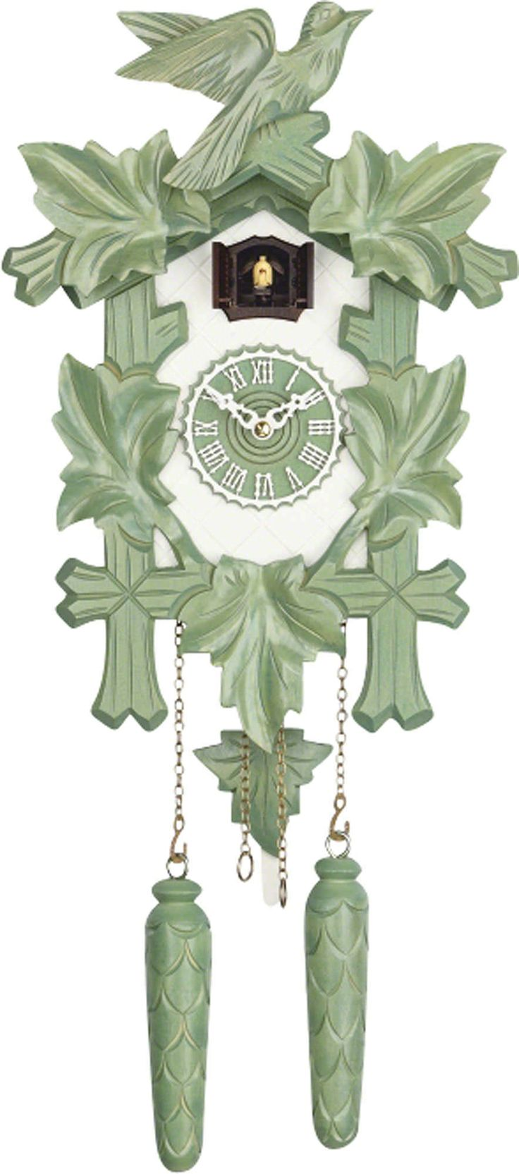 Modern Art Cuckoo Clocks Modern Tradition Cuckoo Clock Quartz-movement Modern-Art-Style 35cm by Trenkle Uhren